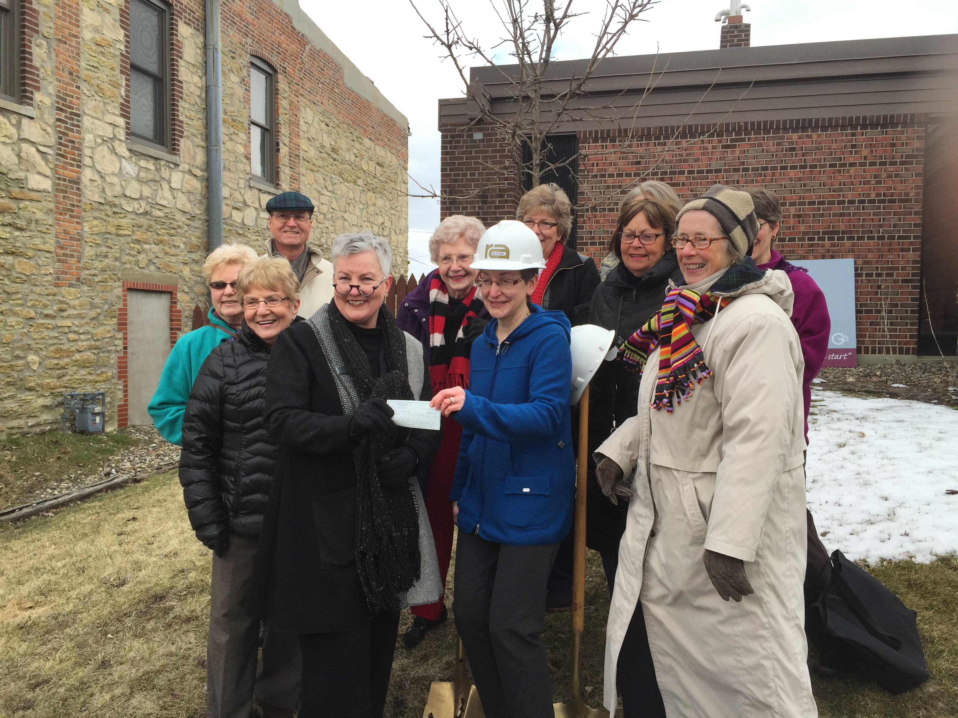 friends of the library groundbreaking